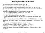 the dragon which is satan45