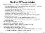 the end of the antichrist