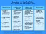 evaluation von transfereffekten ford weissbein 1995 smith jentsch et al 2001