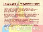 abstract introduction