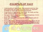 examples of yagn