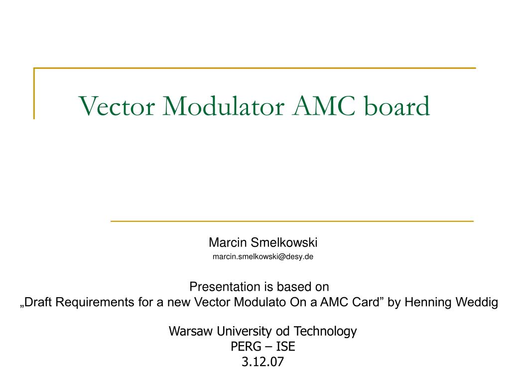 vector modulator amc board l.
