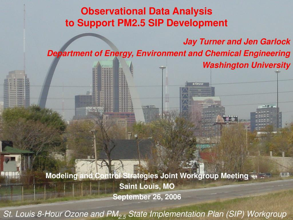 observational data analysis to support pm2 5 sip development l.