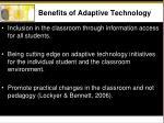 benefits of adaptive technology