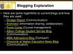 blogging exploration