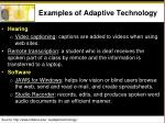 examples of adaptive technology
