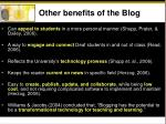 other benefits of the blog