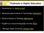 podcasts in higher education