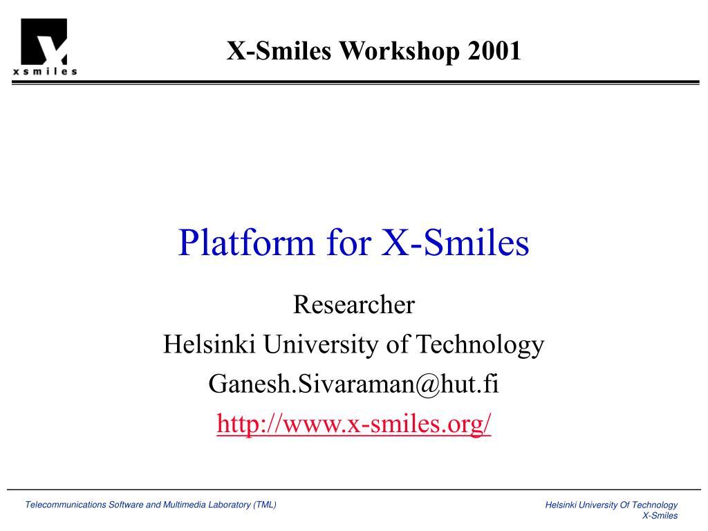 platform for x smiles l.
