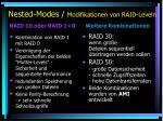 nested modes modifikationen von raid leveln