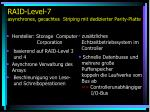 raid level 7 asynchrones gecachtes striping mit dedizierter parity platte