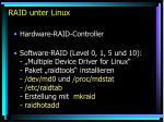 raid unter linux