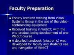 faculty preparation