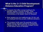 what is the 2 2 child development distance education program