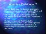 what is a distribution