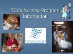 tcl s nursing program information