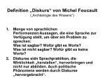 definition diskurs von michel foucault arch ologie des wissens