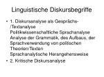 linguistische diskursbegriffe