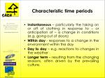 characteristic time periods