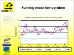 running mean temperature
