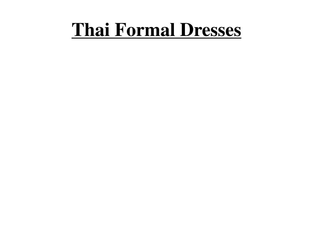 thai formal dresses l.