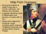 help from overseas