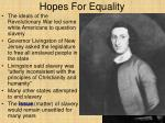 hopes for equality