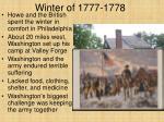 winter of 1777 1778