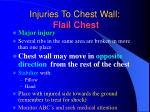 injuries to chest wall flail chest