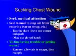 sucking chest wound