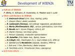 development of wien2k