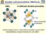 double cell perovskites rbafe 2 o 5