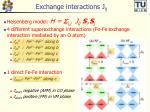 exchange interactions j ij