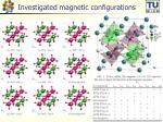 investigated magnetic configurations