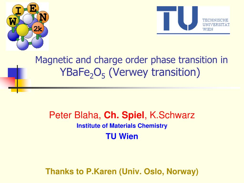 magnetic and charge order phase transition in ybafe 2 o 5 verwey transition l.