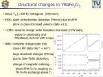 structural changes in ybafe 2 o 5