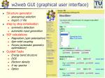 w2web gui graphical user interface
