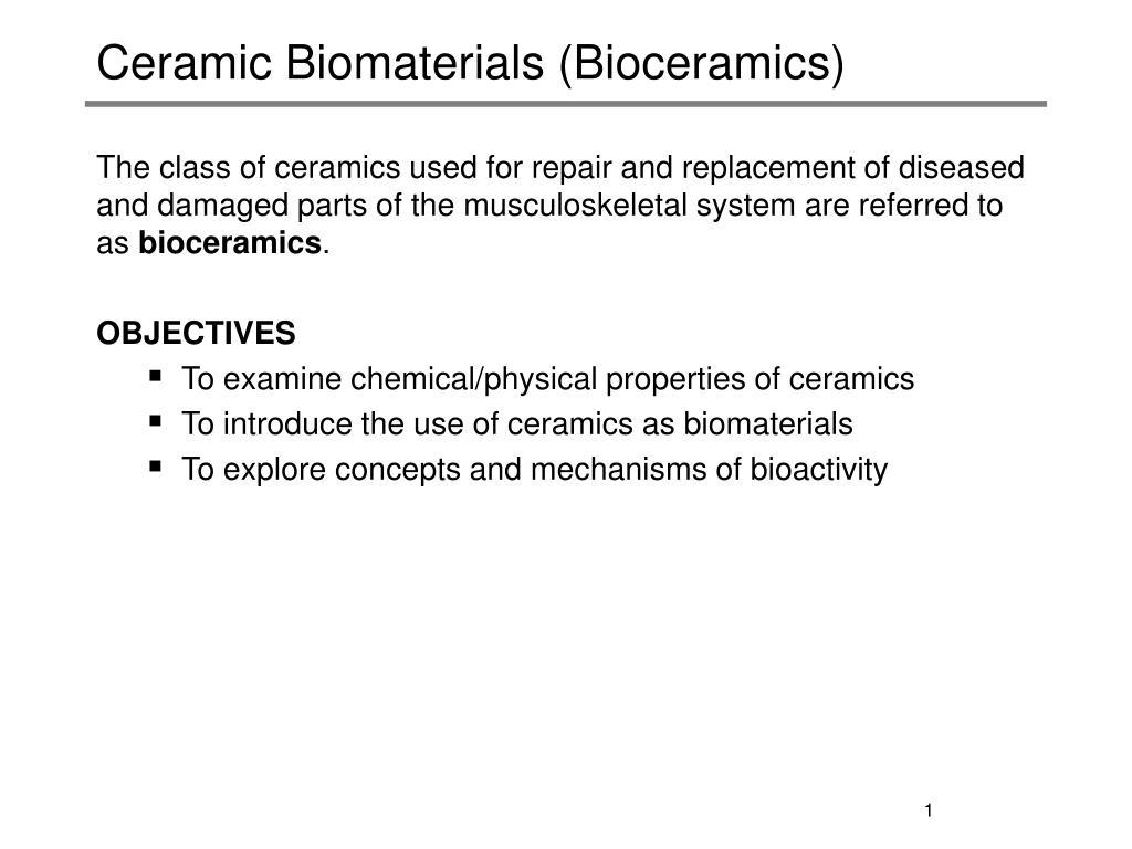 ceramic biomaterials bioceramics l.