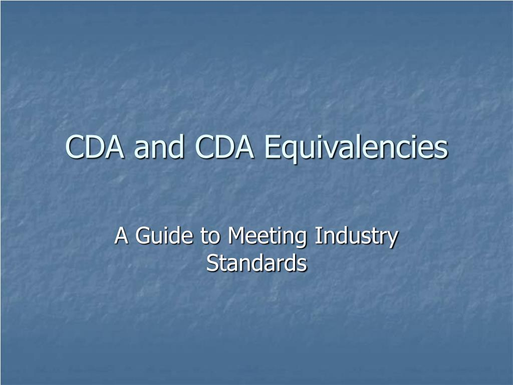 cda and cda equivalencies l.
