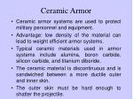 ceramic armor