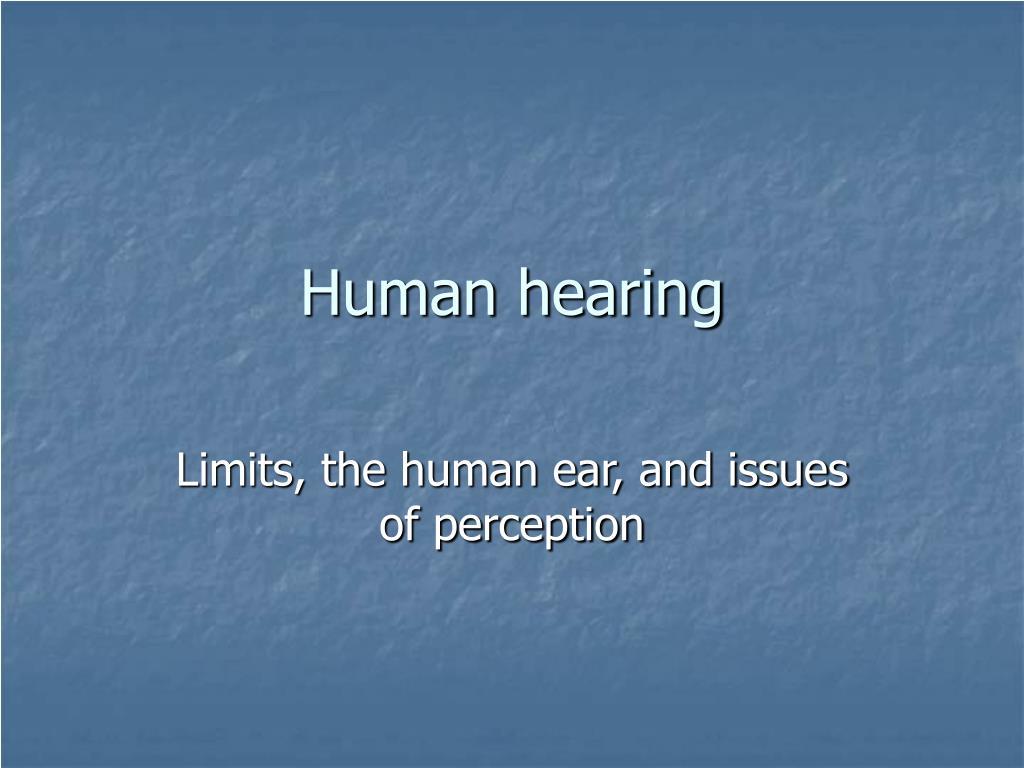human hearing l.