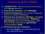 verwahrung 957 ff abgb