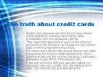 the truth about credit cards