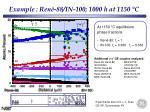example ren 88 in 100 1000 h at 1150 c