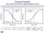 ternary example ni 5 13al 9 77cr ni 2 39al 19 34cr at