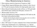 glass manufacturing in america