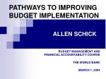 pathways to improving budget implementation