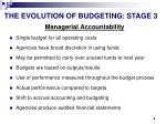 the evolution of budgeting stage 3