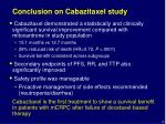 conclusion on cabazitaxel study
