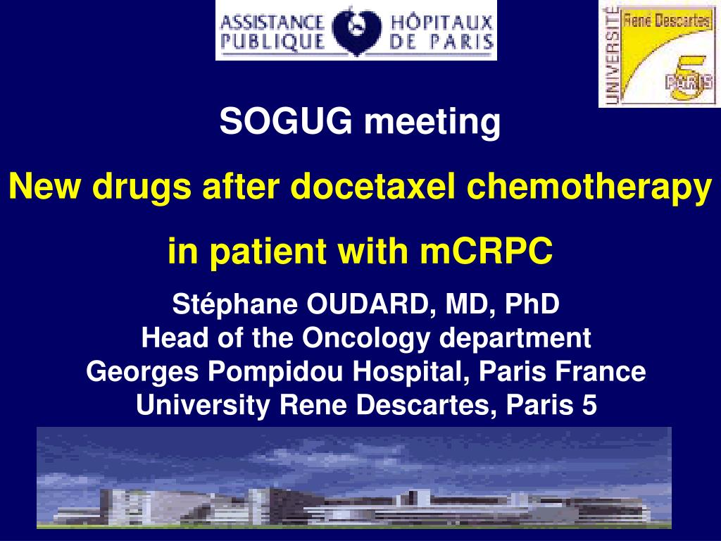 sogug meeting new drugs after docetaxel chemotherapy in patient with mcrpc l.